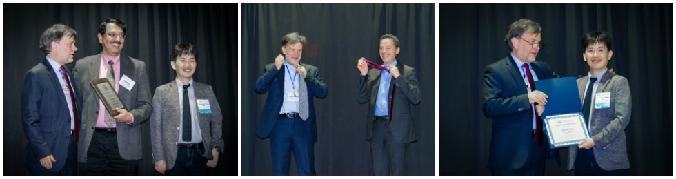 IJCNN2017 - President Robert Kozma Recognizes: Past President, Ali Minai - Annual Tie Exchange with IEEE/CIS Cesare Alippi - Recognition of Gen. Chair, Yoonsuck Choe